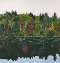 Fall Trees Reflected in Pond near Parry Sound, Ontario