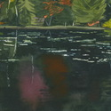 Fall Trees Reflected in Pond near Parry Sound, Ontario, detail